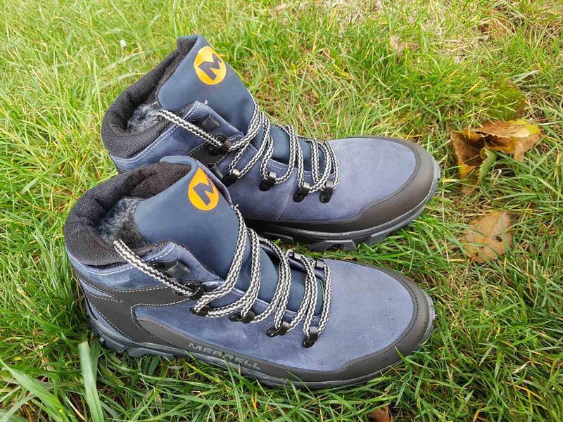 Кожаные зимние ботинки с прорезиненным носком и пяткой шкіряні... - Фото 9