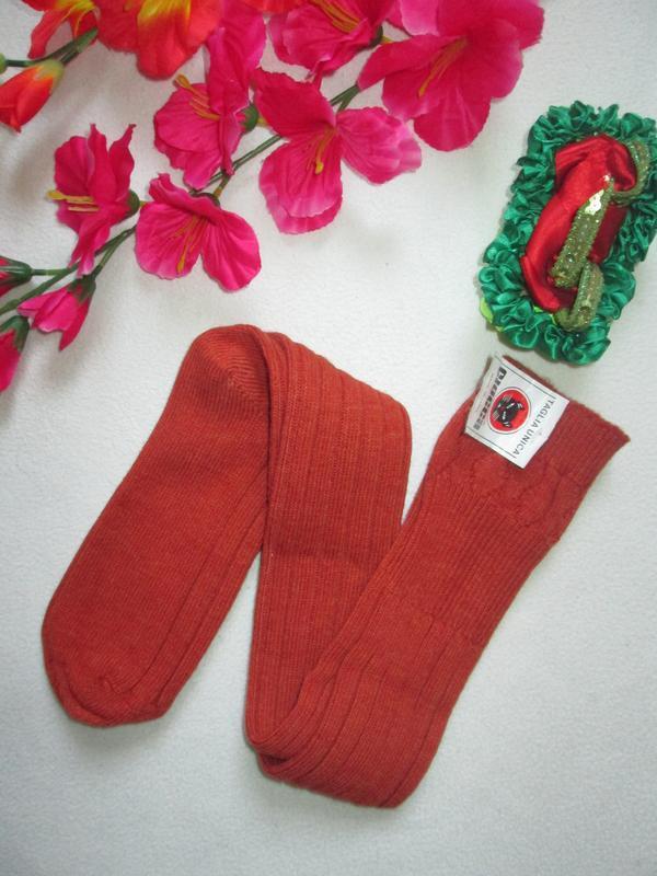Шикарные теплющие высокие носки гольфы 100% шерсть ciocca италия
