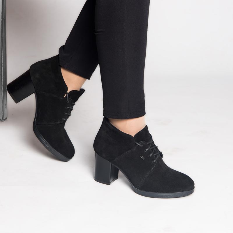 Туфли на устойчивом каблуке из натуральной замши!