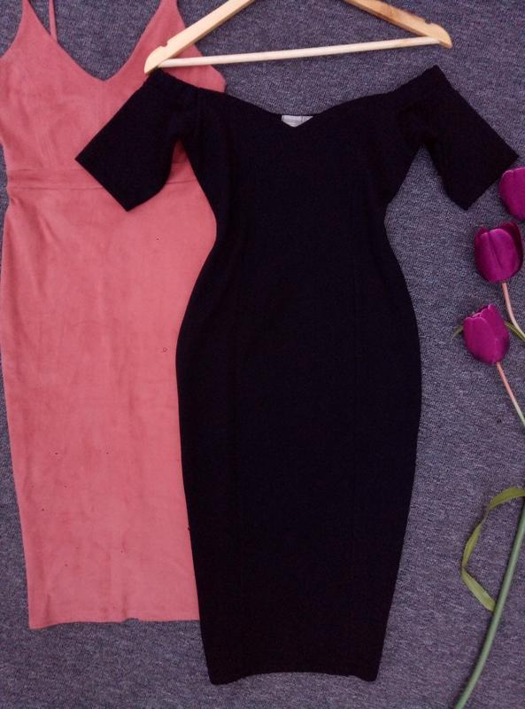 Крутое платье 👗 миди с открытыми плечами от asos  раз. s-m