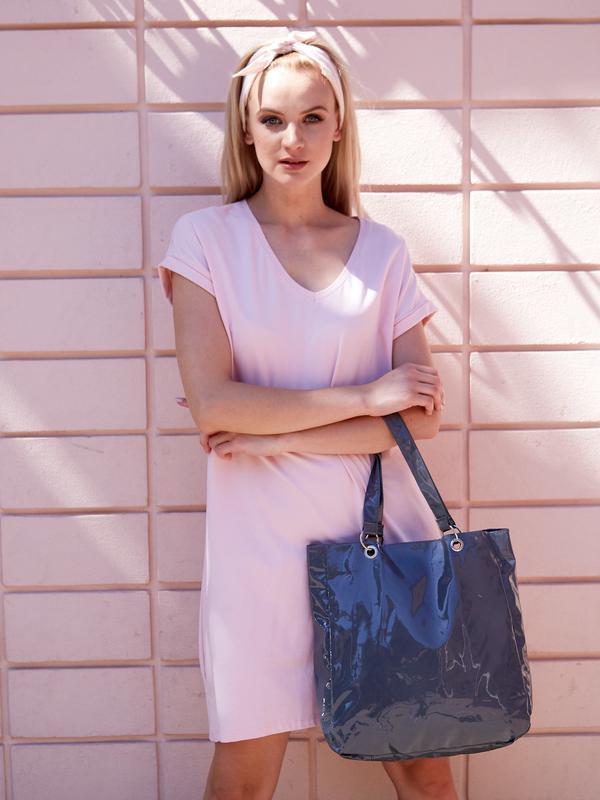 17-188 женская сумка шоппер лаковая shopper