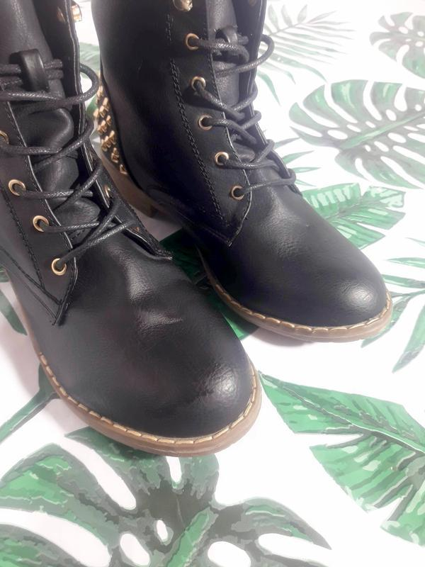 Распродажа! актуальные ботинки с шипами + натур кожа - Фото 2