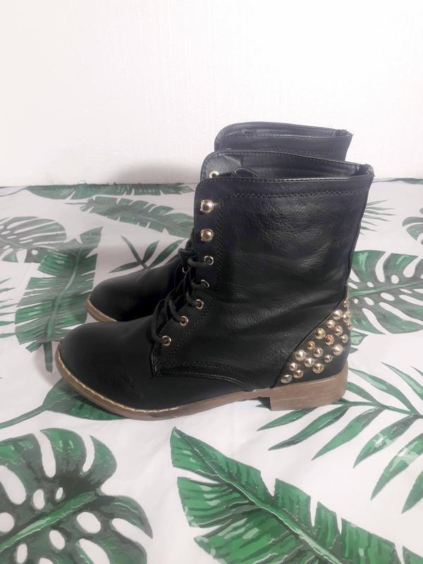 Распродажа! актуальные ботинки с шипами + натур кожа - Фото 3