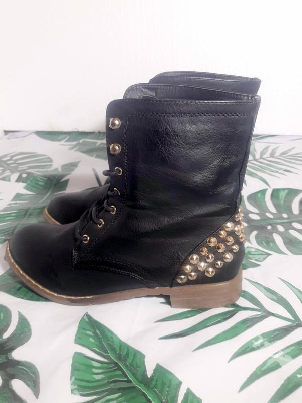 Распродажа! актуальные ботинки с шипами + натур кожа - Фото 5