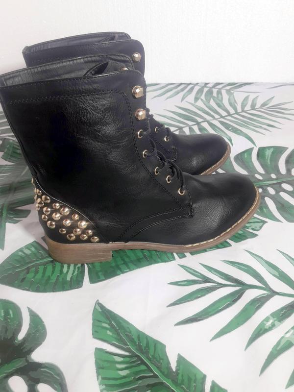 Распродажа! актуальные ботинки с шипами + натур кожа - Фото 6