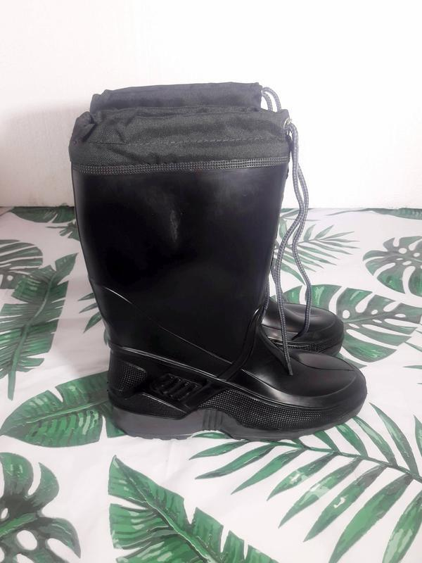 Распродажа! теплые резиновые сапоги ботинки осень весна деми зима