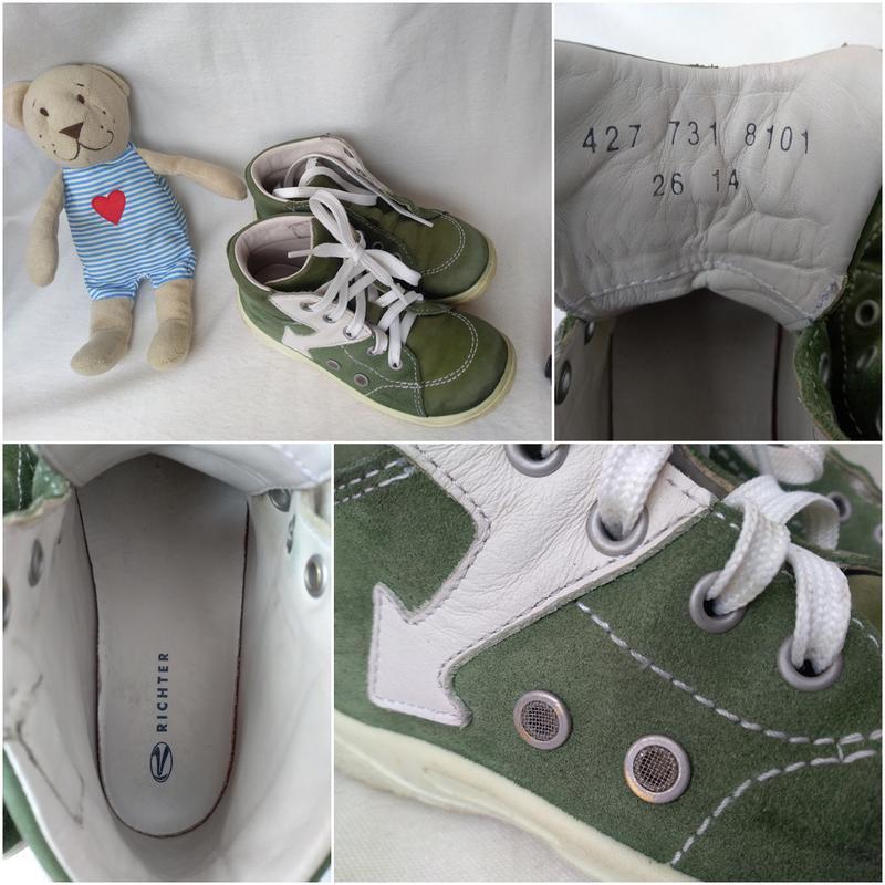 Кожаные замшевые ботиночки кеды мокасины richter для мальчика ...