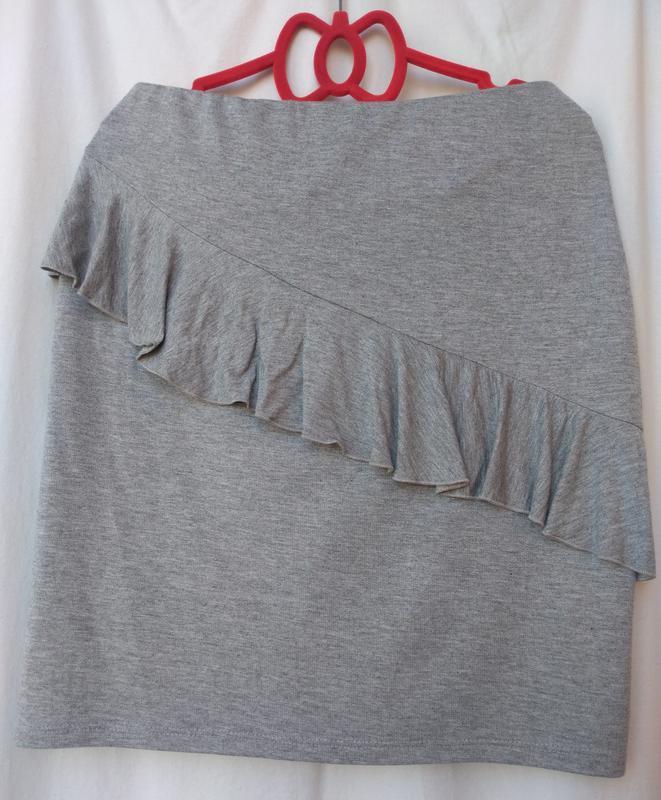 Легкая юбка из вискозного трикотажа(george) р. 50 (14) турция