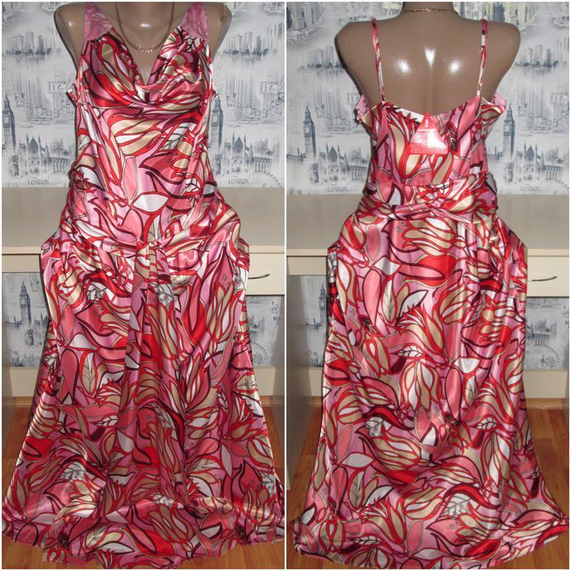 Шикарное длинное платье-сарафан на бретелях (р.50-хl) star by ...