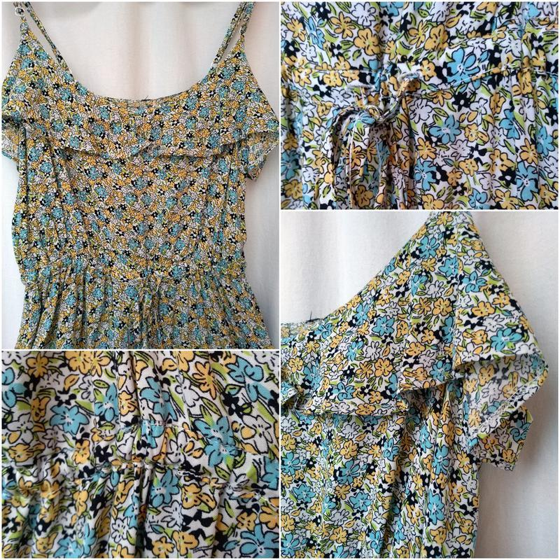 Летний сарафан-платье  на бретелях р. xs-s  42-44