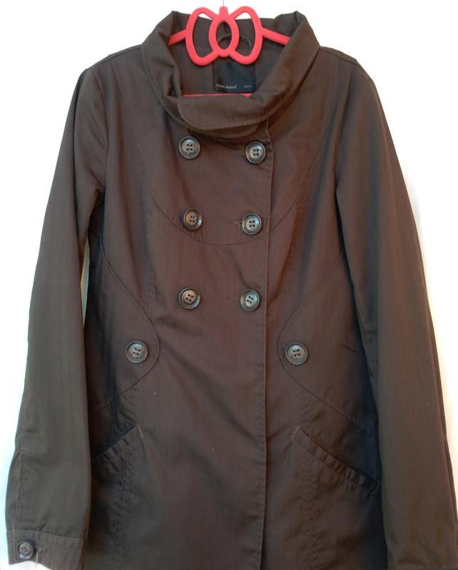 Коричневый короткий тренч плащ куртка vero moda  р.44-46