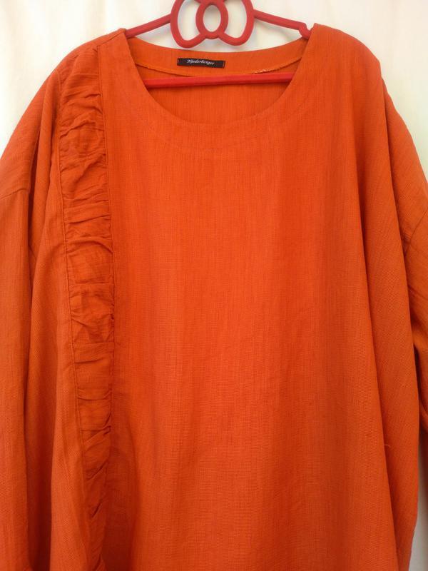 Терракотовая легкая блузка кофта свободного кроя (niederbergen...