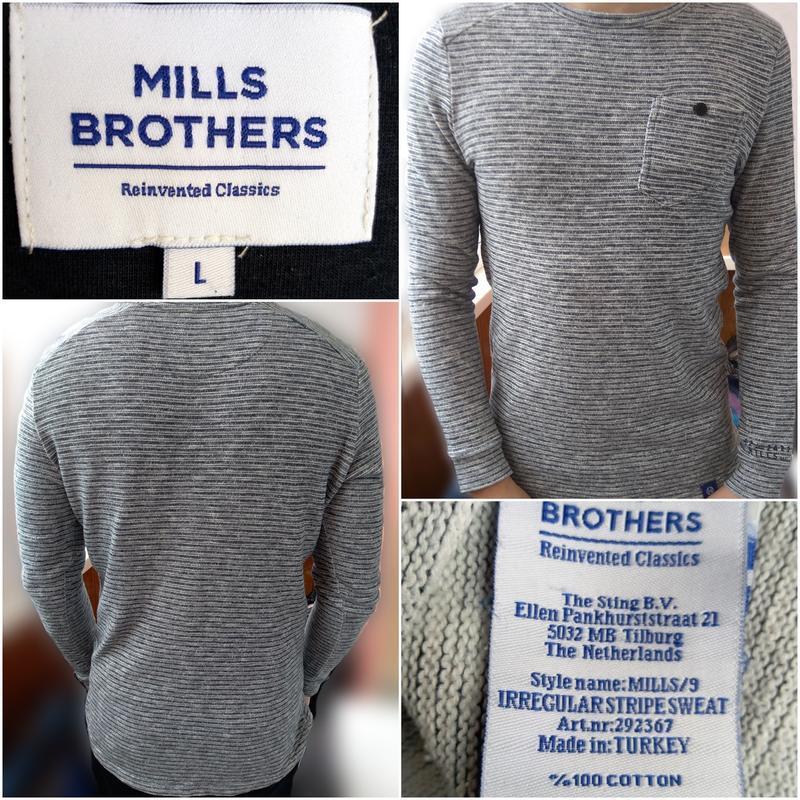 Мужской джемпер кофта р.50-52 (l)  mills brothers (турция)