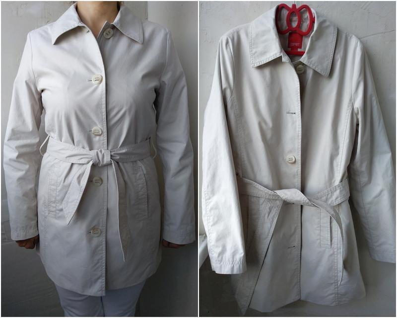 Тренч куртка ветровка на подкладке с поясом esprit  р.48 l