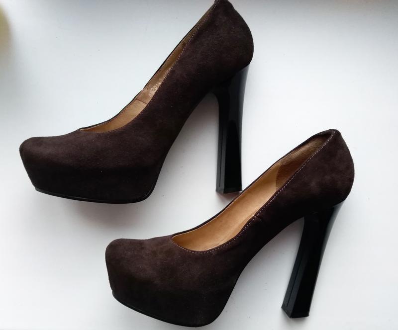 Замшевые женские коричневые туфли – р.39, stefano (львовская ф...