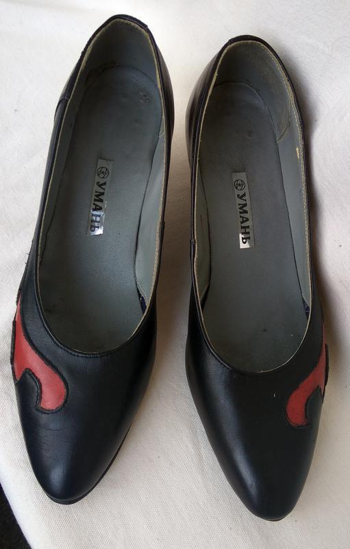 Классические, кожаные, женские туфли – 39 размер_класичні туфлі