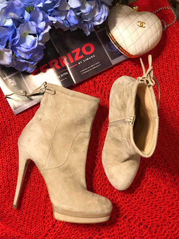 Натуральные замшевые ботинки mps италия размер 40 (25,8 см)