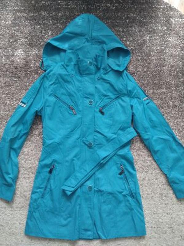 Женское весеннее пальто Symonder. Ярко-голубого цвета. Размер S