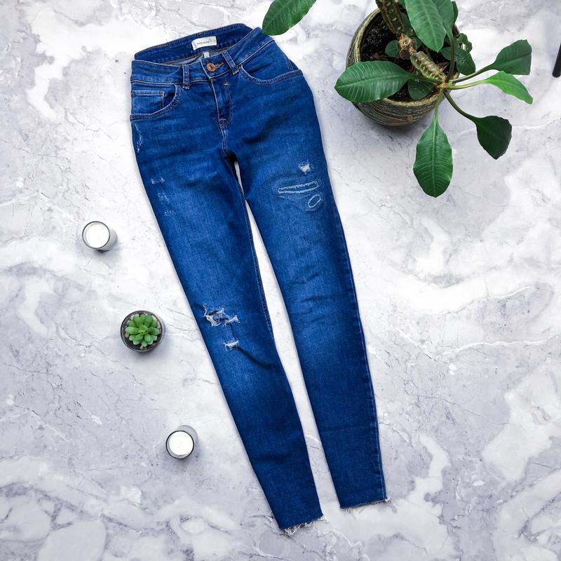 Крутые джинсы скини uk8 river island