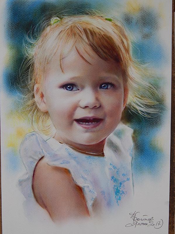 Оригинальный подарок портрет по фото на заказ Украина