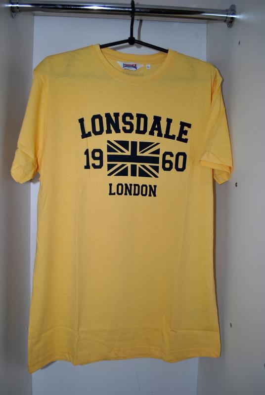Футболка мужская новая! lonsdale lжелтая брендовая
