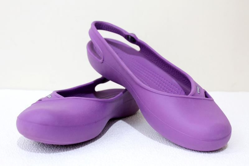 Балетки сандалии  crocs olivia  w8 - Фото 3
