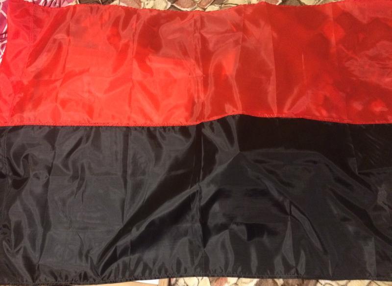 Червоно чорний прапор. Прапор УПА. Розмір 135х90 см.