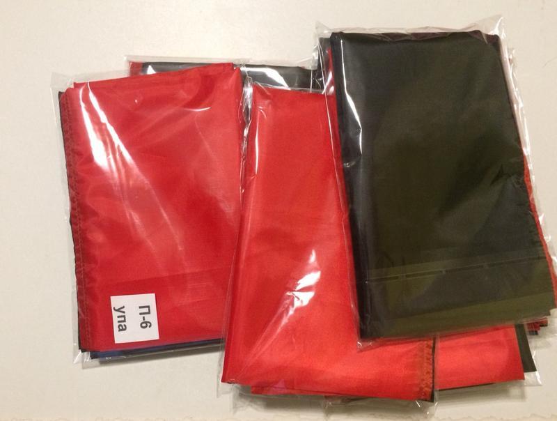 Червоно чорний прапор. Прапор УПА. Розмір 135х90 см. - Фото 3