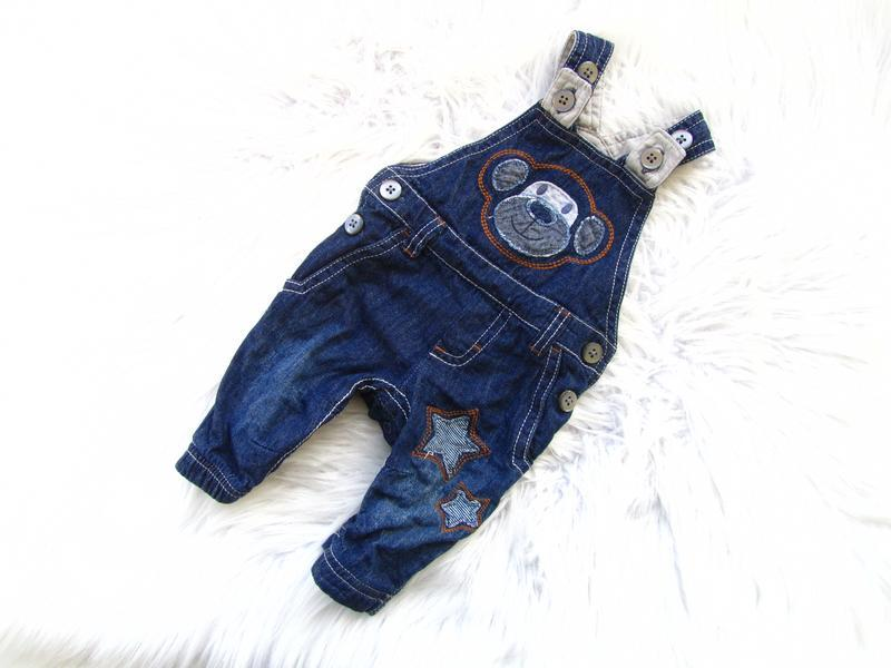 Крутой утепленный джинсовый полукомбинезон next