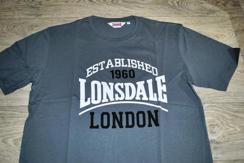 Футболка мужская новая! lonsdale xl серая брендовая