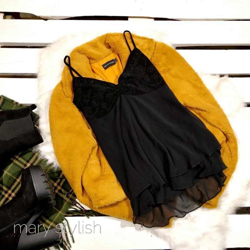 Черная блузка майка