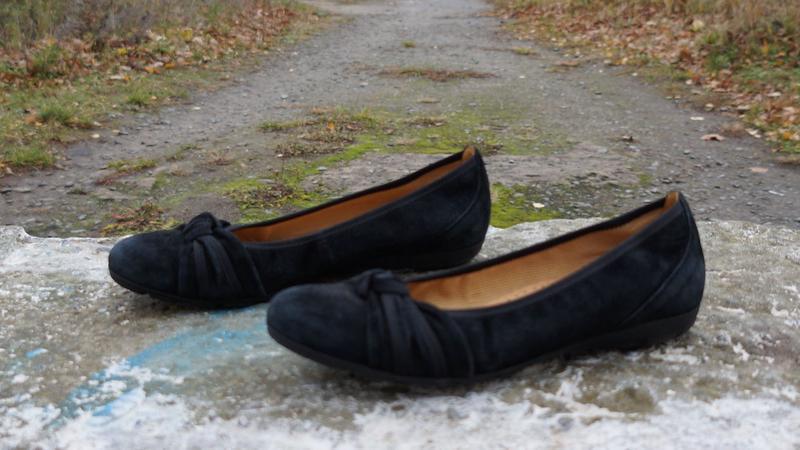 Замшеві туфлі, балетки gabor hovercraft