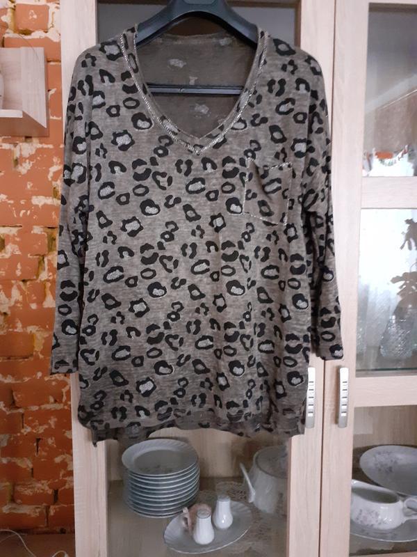 Изумительная котоновая блузка большого размера