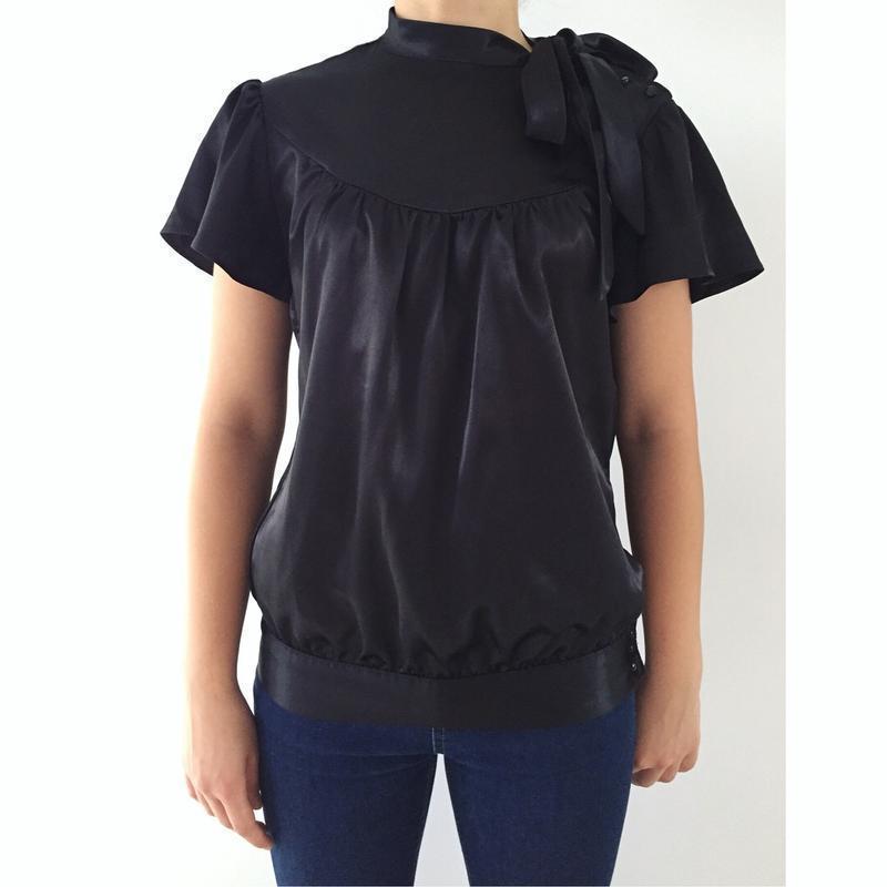 Блуза чорна, черная блуза.