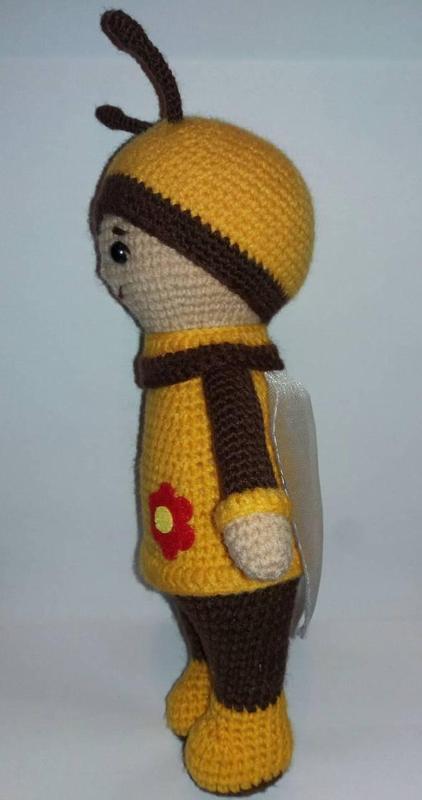 Игрушка Пчелка детская вязаная игрушка ручной работы - Фото 2