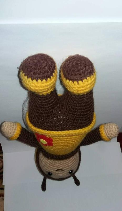 Игрушка Пчелка детская вязаная игрушка ручной работы - Фото 3