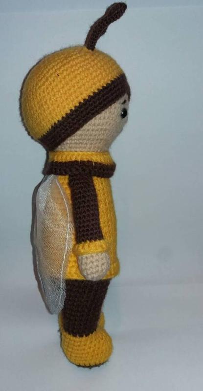 Игрушка Пчелка детская вязаная игрушка ручной работы - Фото 4