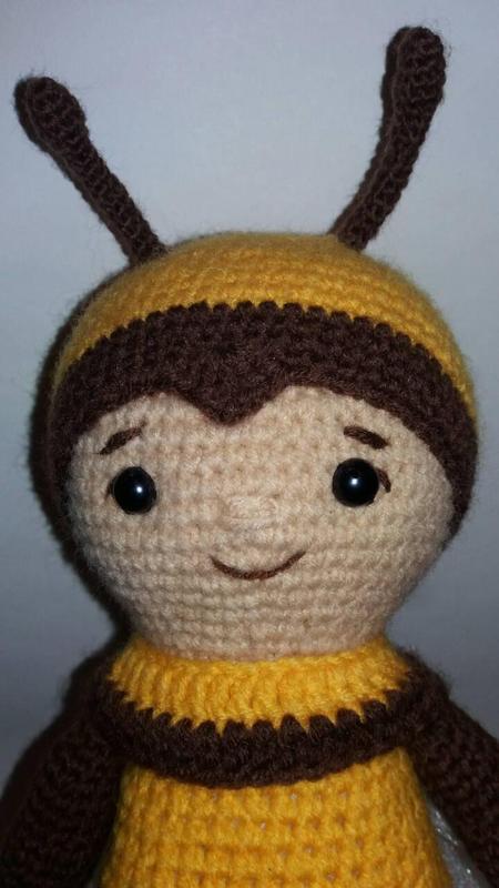 Игрушка Пчелка детская вязаная игрушка ручной работы - Фото 5