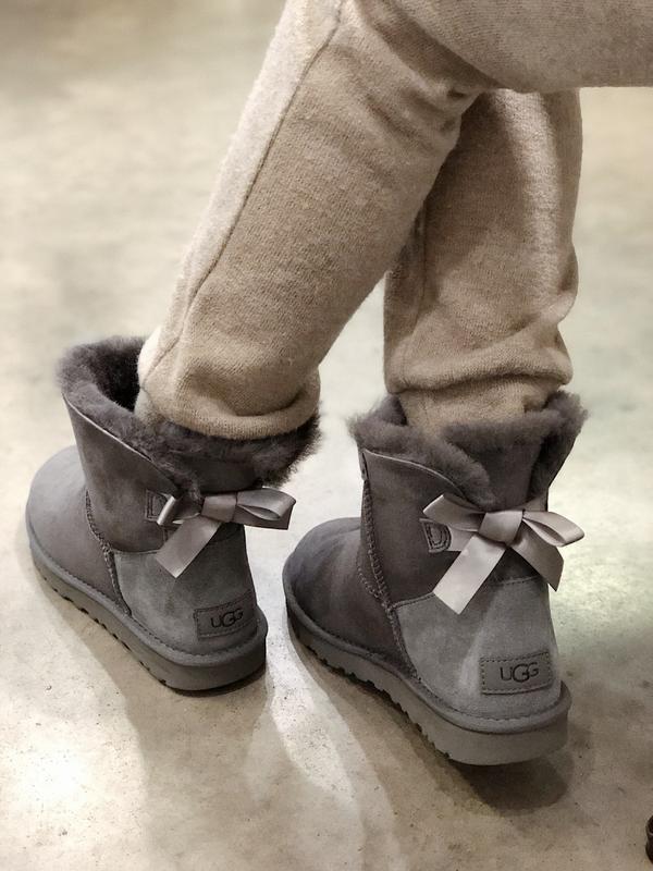 💠ugg mini grey💠женские зимние замшевые серые угги