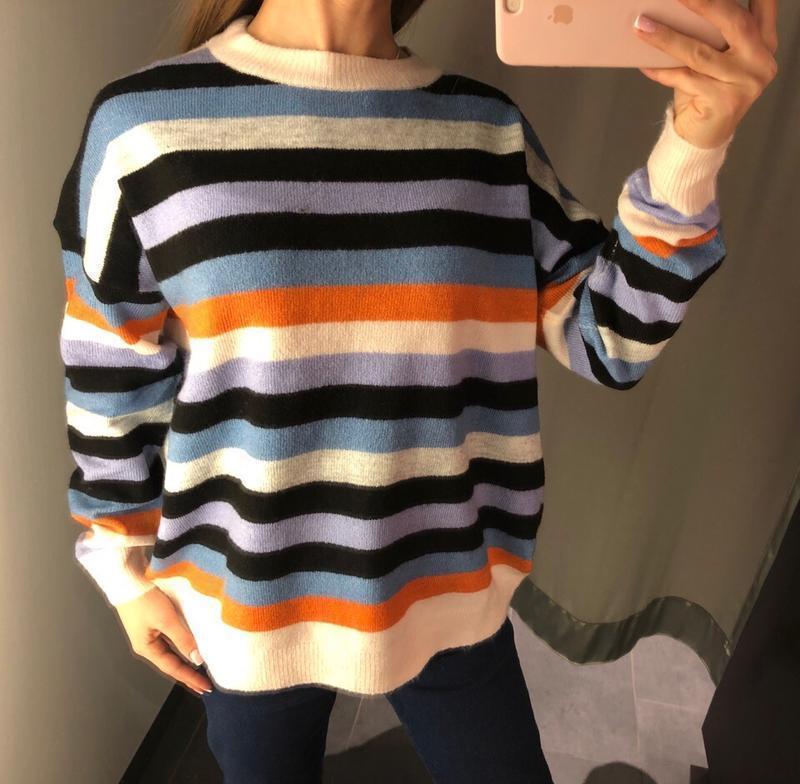 Легкий вязаный свитер кофта amisu есть размеры