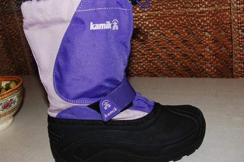 Зимние сноубутсы kamik 35 размер фиолетовые