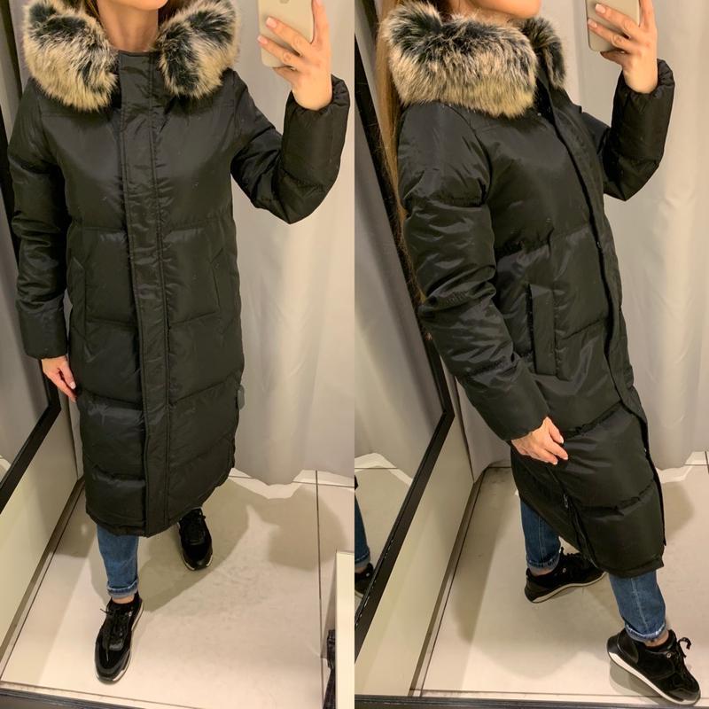 Очень тёплый зимний пуховик куртка пальто reserved есть размеры