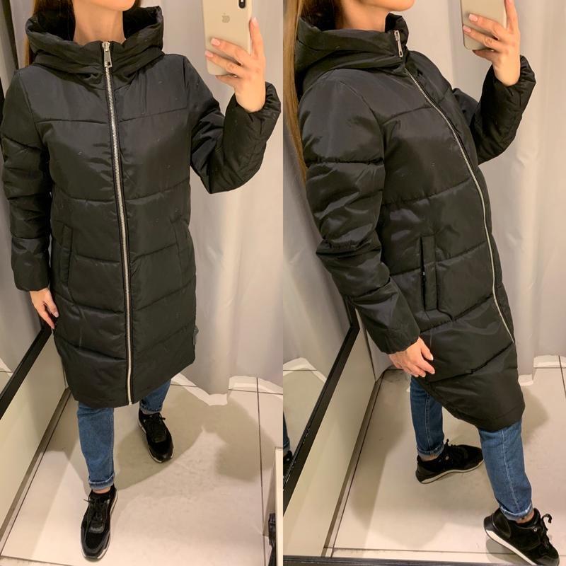 Зимнее пальто куртка с капюшоном reserved есть размеры