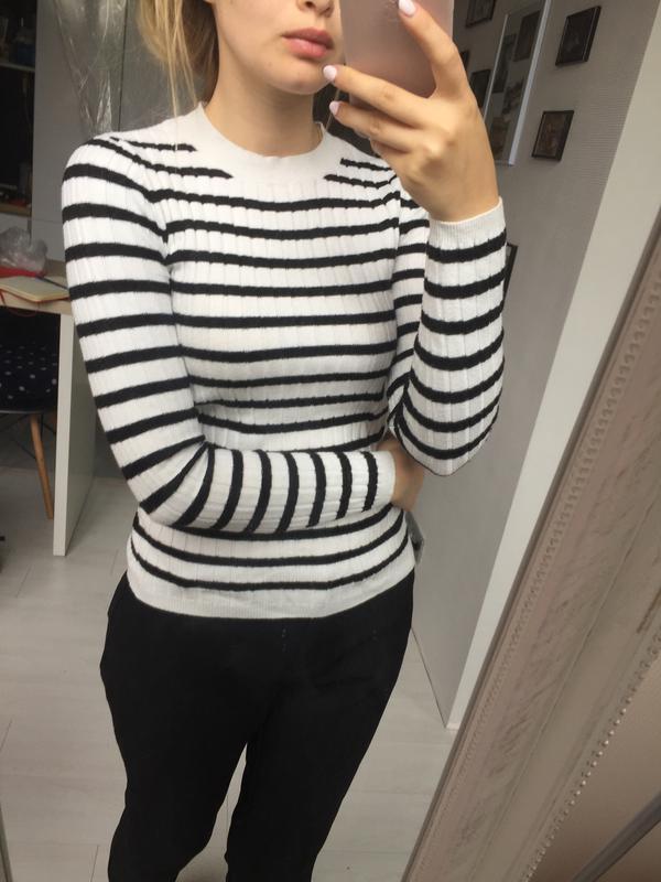 Мягкий свитер, джемпер в полоску, atmosphere