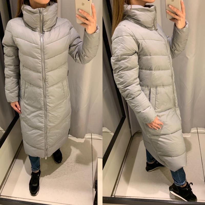 Длинная зимняя куртка на пуху курточка пуховик reserved есть р...