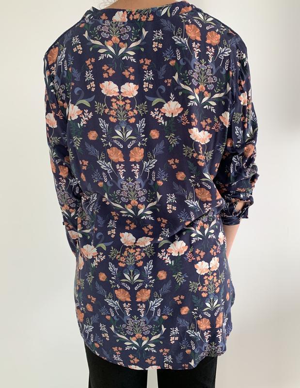 Блузка в квітковий принт, блузка, очень красивая блуза, блуза ... - Фото 6