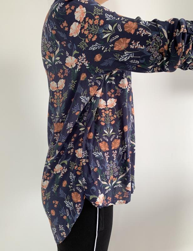 Блузка в квітковий принт, блузка, очень красивая блуза, блуза ... - Фото 3