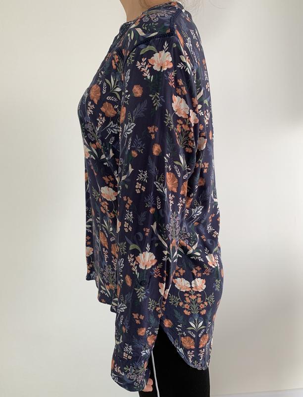 Блузка в квітковий принт, блузка, очень красивая блуза, блуза ... - Фото 5