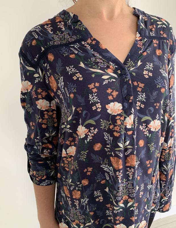 Блузка в квітковий принт, блузка, очень красивая блуза, блуза ... - Фото 2
