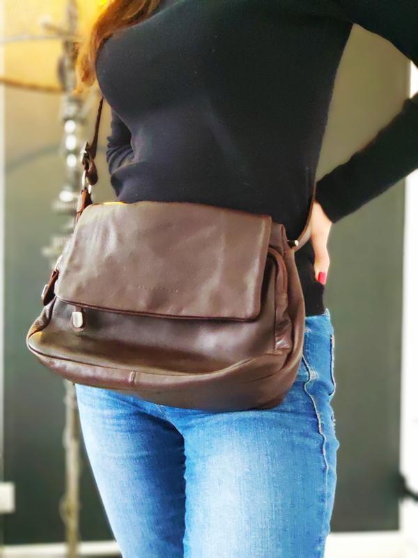 Bruno rossi 100% оригинальная кожаная сумка.